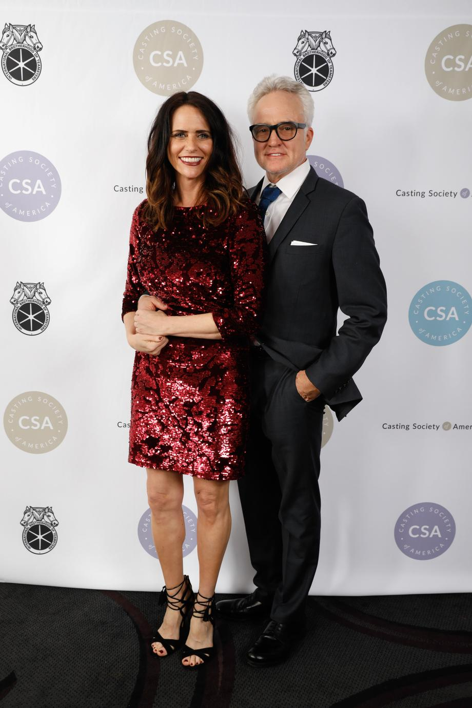 Presenters Amy Landecker and Bradley Whitford
