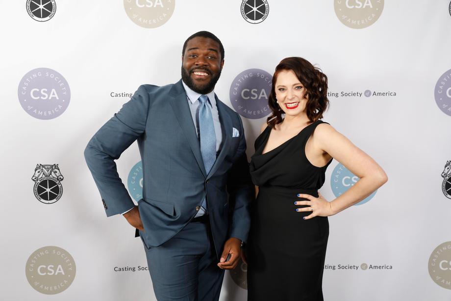 Presenters Sam Richardson and Rachel Bloom