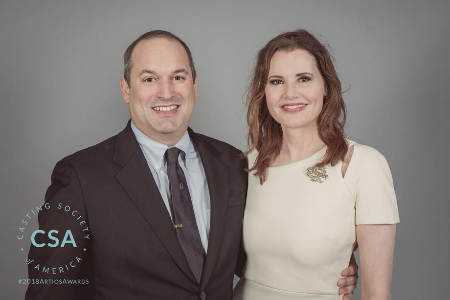 CSA President Matthew Lessall and presenter Geena Davis - photo credit: Lisa Kelly Remerowski